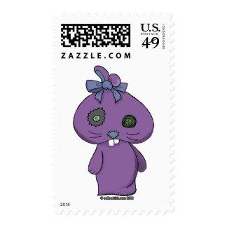 Conejito púrpura del Beanbag Franqueo