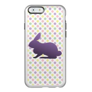 Conejito púrpura en puntos en colores pastel funda para iPhone 6 plus incipio feather shine