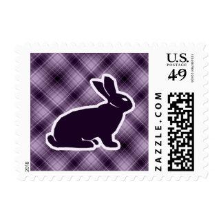 Conejito púrpura sellos