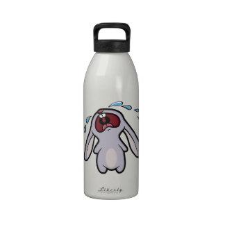 Conejito que grita gritador del conejo de conejito botallas de agua