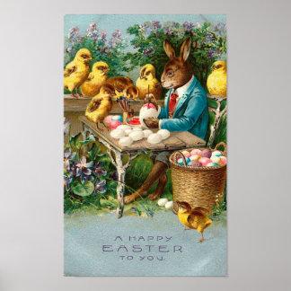 Conejito que pinta los huevos de Pascua Impresiones