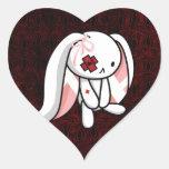 Conejito quebrado pegatina corazon