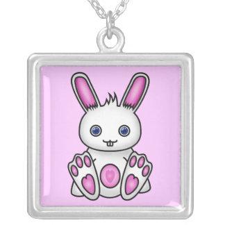 Conejito rosado de Kawaii Colgante Personalizado