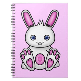Conejito rosado de Kawaii Cuadernos