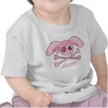 Conejito rosado de Kawaii del pirata Camisetas