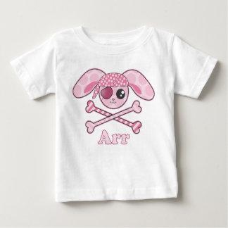 Conejito rosado de Kawaii del pirata Playera De Bebé