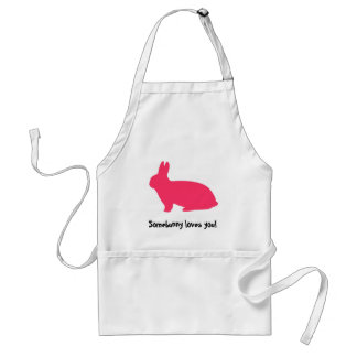 Conejito rosado delantal