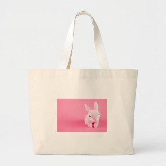 Conejito rosado lindo bolsa de mano