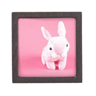 Conejito rosado lindo caja de regalo de calidad
