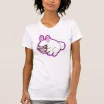 Conejito rosado lindo de la manzana (en rosa) camiseta