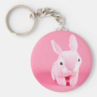Conejito rosado lindo llavero personalizado