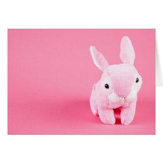 Conejito rosado lindo tarjeta de felicitación