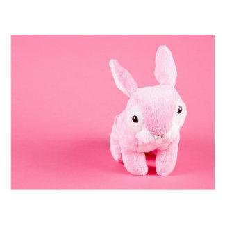 Conejito rosado lindo tarjeta postal