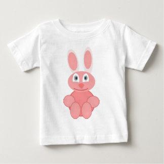 conejito rosado playera de bebé