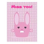 Conejito rosado postal