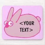 Conejito rosado, <YOUR TEXT> Tapete De Ratones