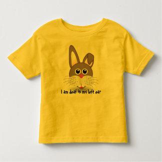 Conejito sordo: Camisa sorda de los niños del oído