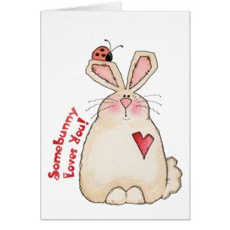 Conejito - tarjeta de la tarjeta del día de San Va