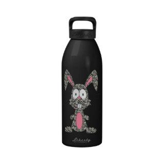 Conejito tonto de la cebra botellas de beber