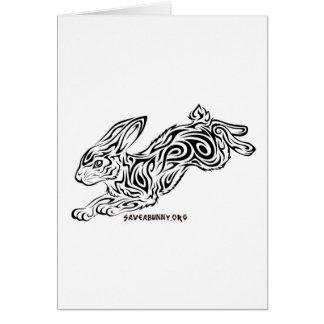 Conejito tribal tarjeta de felicitación