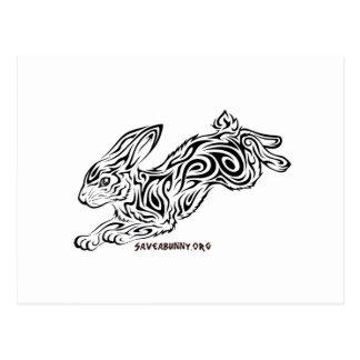 Conejito tribal tarjeta postal