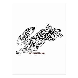 Conejito tribal tarjetas postales