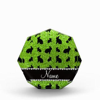 Conejito verde de neón conocido personalizado del