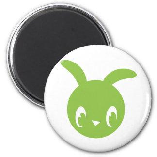 Conejito verde iman de frigorífico