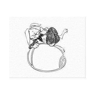 Conejito y huevo de pascua impresiones en lienzo estiradas