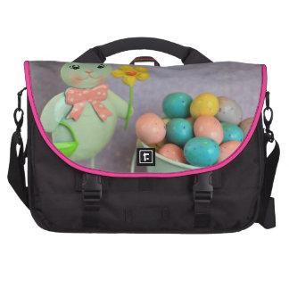 Conejito y huevos de pascua bolsas para portatil