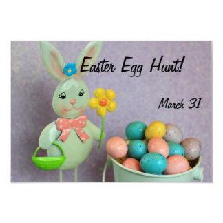 """Conejito y huevos de pascua invitación 3.5"""" x 5"""""""