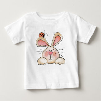 Conejito y insecto - camiseta infantil remeras