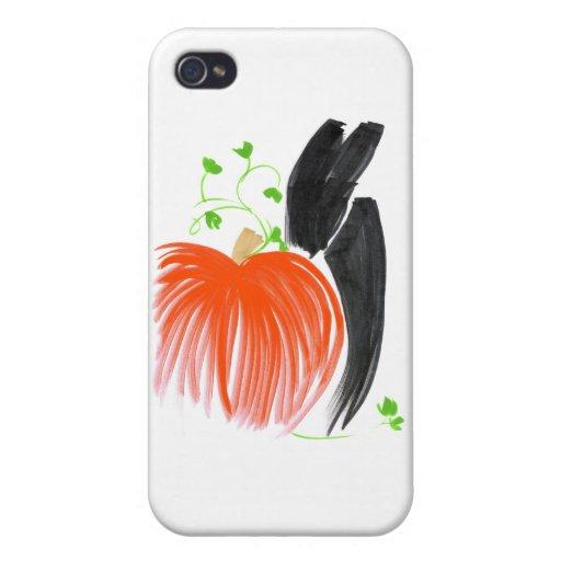 Conejito y pumpkin01 iPhone 4 fundas