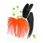 Conejito y pumpkin01 tarjetas postales
