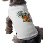 Conejito y zanahoria camisas de mascota