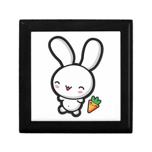 Conejito y zanahoria de Kawaii Caja De Recuerdo
