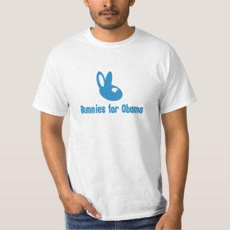Conejitos azules para Obama - el engranaje de Playera