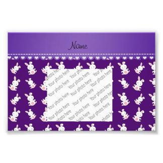 Conejitos blancos púrpuras conocidos cojinete