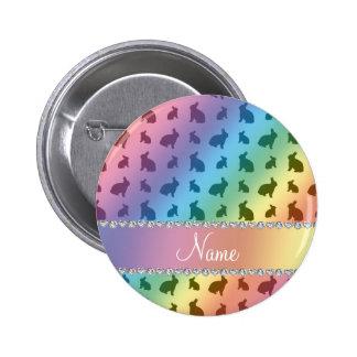 Conejitos conocidos personalizados del arco iris pins