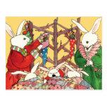 Conejitos de la Nochebuena Tarjeta Postal