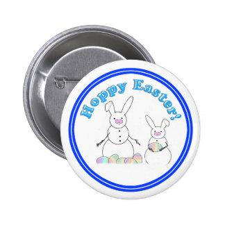 Conejitos de lúpulo de la nieve de Pascua (texto a Pin