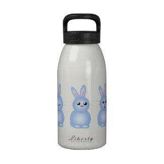 Conejitos de pascua azules botella de agua