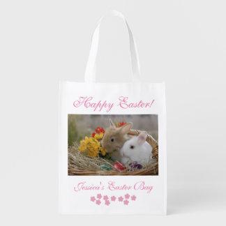 Conejitos de pascua bolsa para la compra