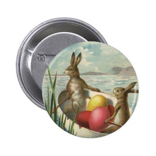 Conejitos de pascua del Victorian del vintage, hue Pins