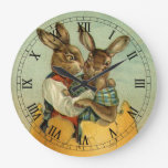 Conejitos de pascua del Victorian del vintage, hue Relojes