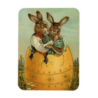 Conejitos de pascua del Victorian del vintage, Imanes Rectangulares