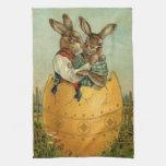 Conejitos de pascua del Victorian del vintage, Toalla De Mano