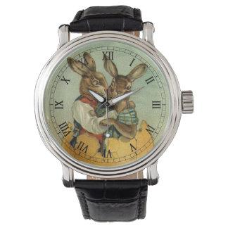 Conejitos de pascua del Victorian del vintage, Reloj De Mano