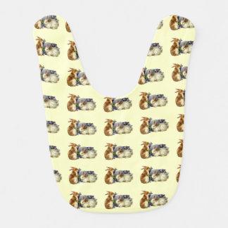 Conejitos de pascua del vintage babero para bebé