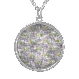 Conejitos de pascua del vintage collar de plata esterlina
